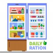 Daily ration — Stock Vector