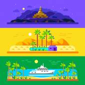 Different landscapes — Stock Vector