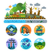 Ecological problems — Stock Vector