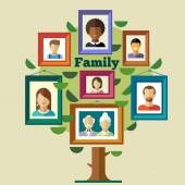 Family tree, relationships and traditions — Stock Vector