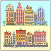 European street landscape — Stock Vector