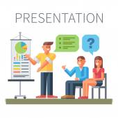 Presentation. Business training — Stock Vector