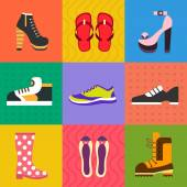 Shoes for all occasions — Stock Vector