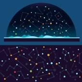 Starry sky, space — Stock Vector