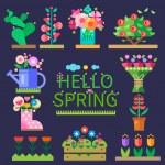 Spring mood. Flower shop — Stock Vector #74380487