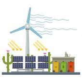 электростанция. энергия — Cтоковый вектор