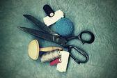 Very old tailor's scissors — Stock Photo