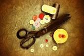 Very old tailor's scissors — ストック写真