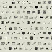 Office seamless mönster — Stockvektor