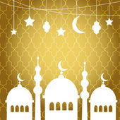 Ramadan Kareem greetings background — Stock Vector