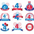 4th july Independence Day sale tags — Stock Vector #74945987