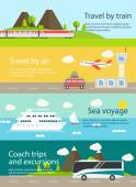 Travel web banners set. — Stock Vector