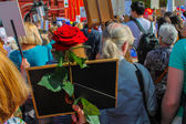 Immortal regiment of Moscow May 9, 2015. 70 Years of Victory — Stock Photo