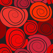Red abstract sealmless pattern — Vettoriale Stock