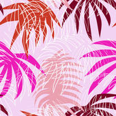 Seamless pattern with colorful palm leafs — Stock Vector
