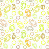Pattern with decorative leaf and doodles — Stock Vector