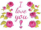 Piękne karty z różami — Wektor stockowy