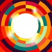 橙色和红色的木本抽象覆被格局 — 图库矢量图片