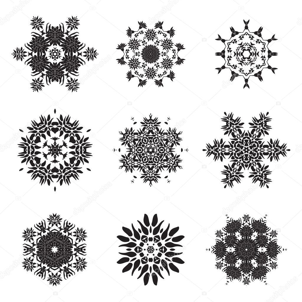 tatouage fleur mandala doodle dessins vectoriels image. Black Bedroom Furniture Sets. Home Design Ideas