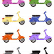 Scooter motorcycles isolated on white background. Side view — Stock Vector #73063955