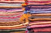 Colorful cotton scarfs — Stock Photo