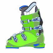Mountain ski boot — Stockvector