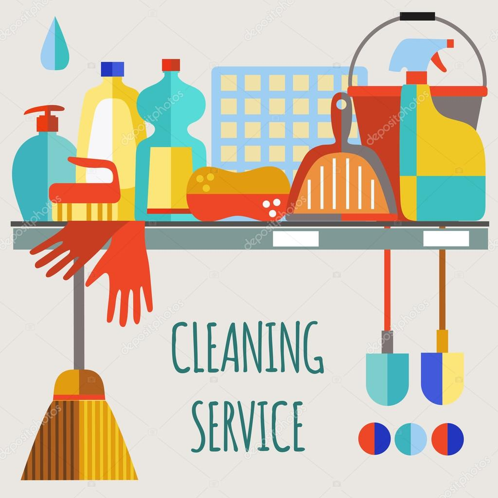 cleaning service stock vectors royalty cleaning service cleaning products flat icon vector set stock vector