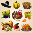 Thanksgiving day items — Stock Vector #81254288