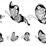 Set of butterflies, side view. — Stock Vector #73530713