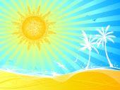 Summer landscape. — Stock Vector