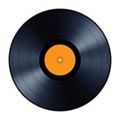 Vinyl record isolated on white background. — Stock Vector