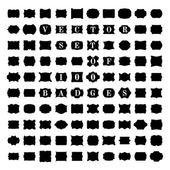 向量集的 100 复古徽章. — 图库矢量图片