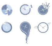 Lost time icon set. — Stock Vector