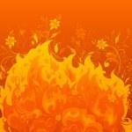Fiery flowers.  — Stock Vector #73803897