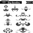 Vector set 3. Vintage page decorations. — Stock Vector #73804193