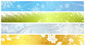 Set of banners of four seasons. — Stock Vector