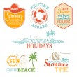 Vector set of summer and vacation labels and emblems. — Stock Vector #76893127