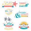Vector set of summer labels and badges. — Stock Vector #76893213