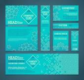 Vector set of retro design templates.  — Stock Vector