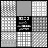 Seamless geometric patterns. — Stock Vector