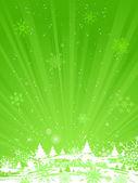 绿色圣诞背景. — 图库矢量图片