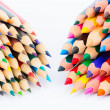 Set of colorful pencils on a white background — Stock Photo #73370295