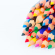 Set of colorful pencils on a white background — Stock Photo #73370299