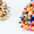 Set of colorful pencils on a white background — Stock Photo #73370305