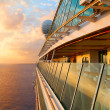 Sunset from the open deck of luxury cruise ship. — Stock Photo #73566281