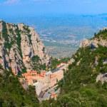 Santa Maria de Montserrat Abbey in Monistrol de Montserrat, Catalonia, Spain. — Stock Photo #73674907