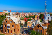 """Park Guell"". Barcelona, Spain. — Stock Photo"