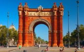 """Arch of Triumph"" BARCELONA, SPAIN — Stock Photo"