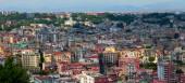 Panorama Flygfoto på Naples centrum, Italien. — Stockfoto