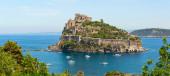 Aragon castle. Ischia island, Italy. — Stock Photo